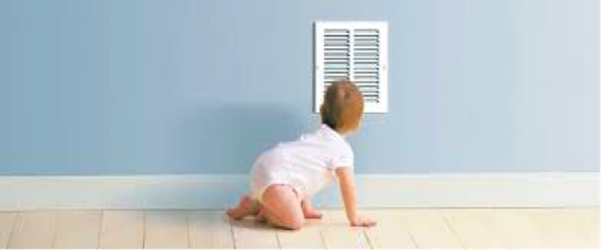 Baby Looking at Air Vent